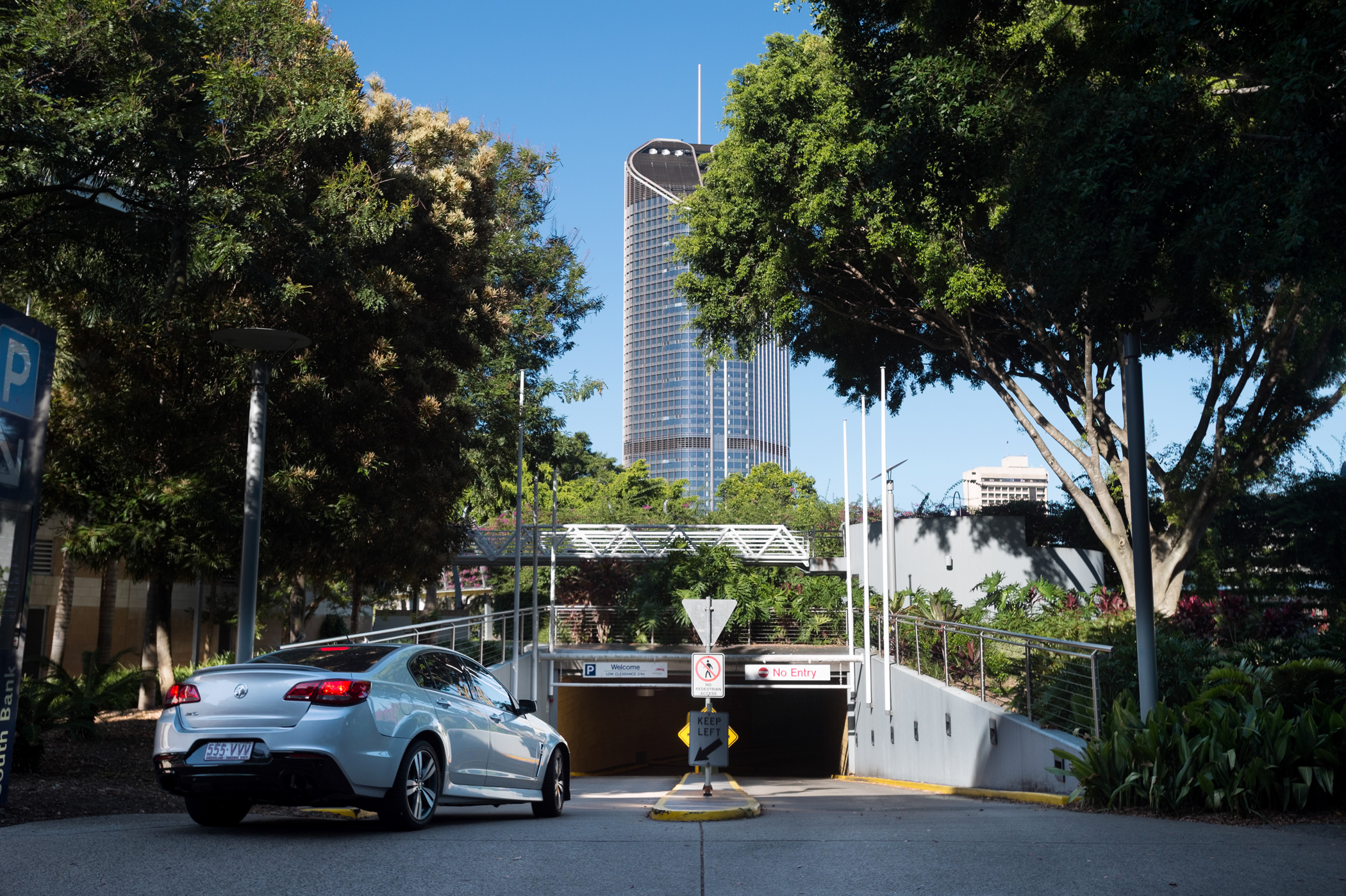 South Bank car park entry is from Little Stanley Street either from Glenelg or Tribune Streets